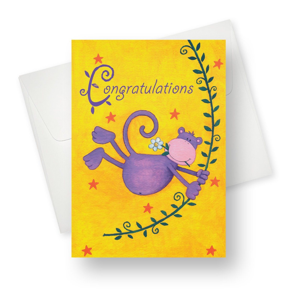 'Swinging Monkey' Congratulations Card - Northern Cards