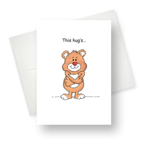 'This Hugs' Friendship Card - Northern Cards