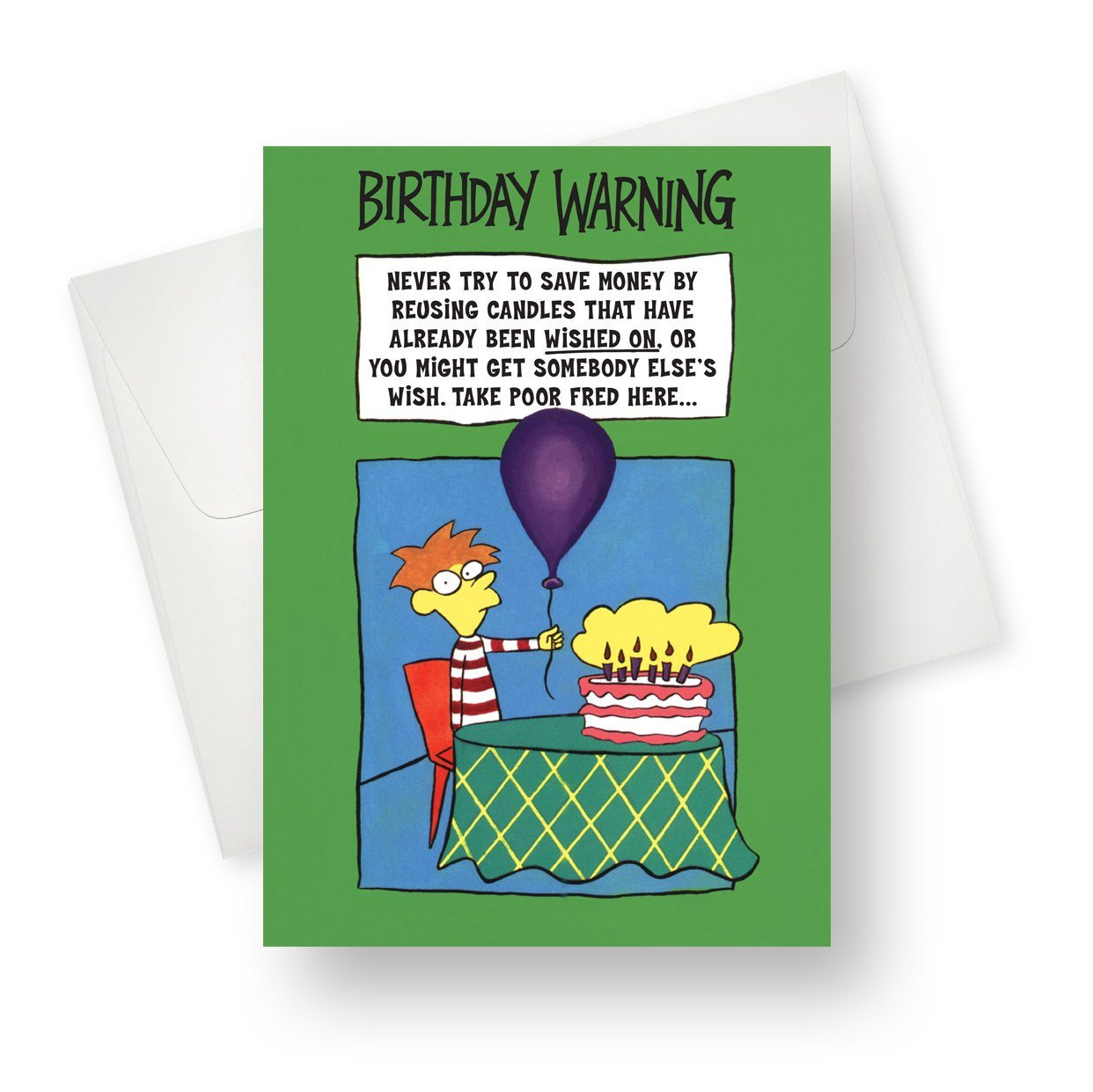 'Warning' Birthday Card - Northern Cards