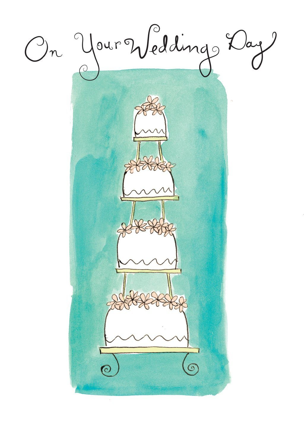 'Wedding Cake' Wedding Card - Northern Cards