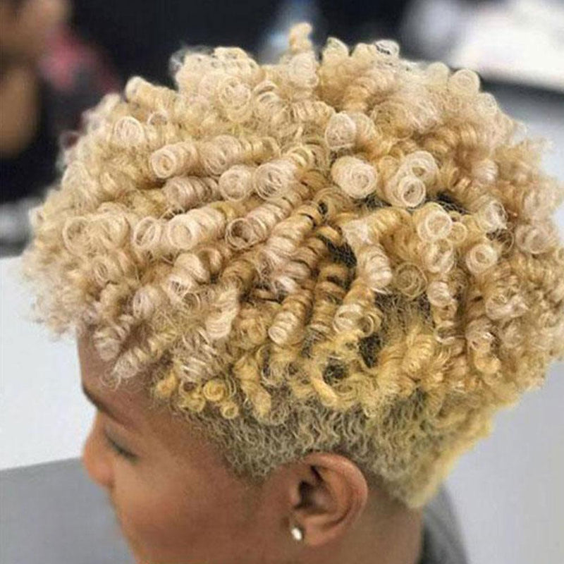 Hairsleisure Designer Blonde Spiral Short Curly Afro Wig for African American