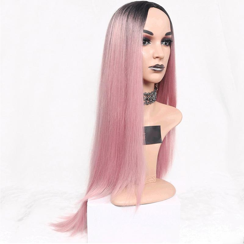 Suri Hair Long Straight Ombre Pink Wigs