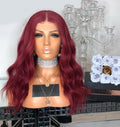 Hairsleisure Long Wavy Red Hair 360 Lace Wig Frontal Wig Body Wave Wig