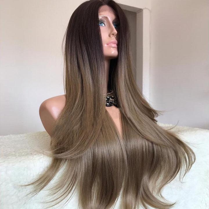 Hairsleisure Brown-Black Long Wig Best Seller 50% OFF Human Hair Lace