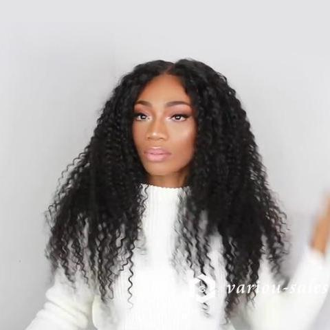 Hairsleisure Long Curly Beauty Forever Black Hair 360 Lace Black Wig