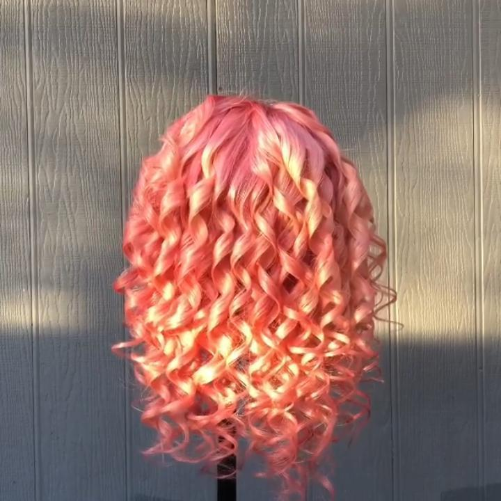 Hairsleisure Gold Pink Wig 360 Lace Wig Amazing Bob Hair Human Wig