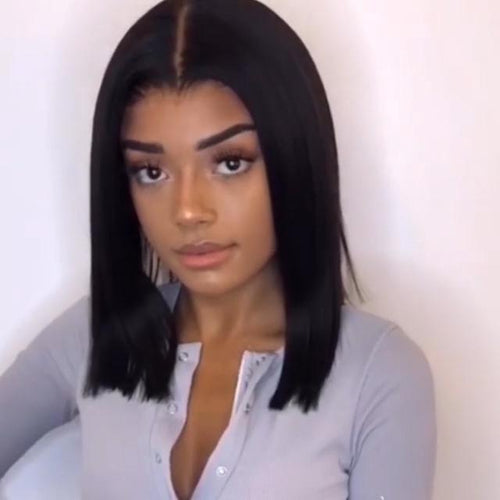 Hairsleisure Short Lace Front Human Hair Wigs Straight Bob Wig For Black Women