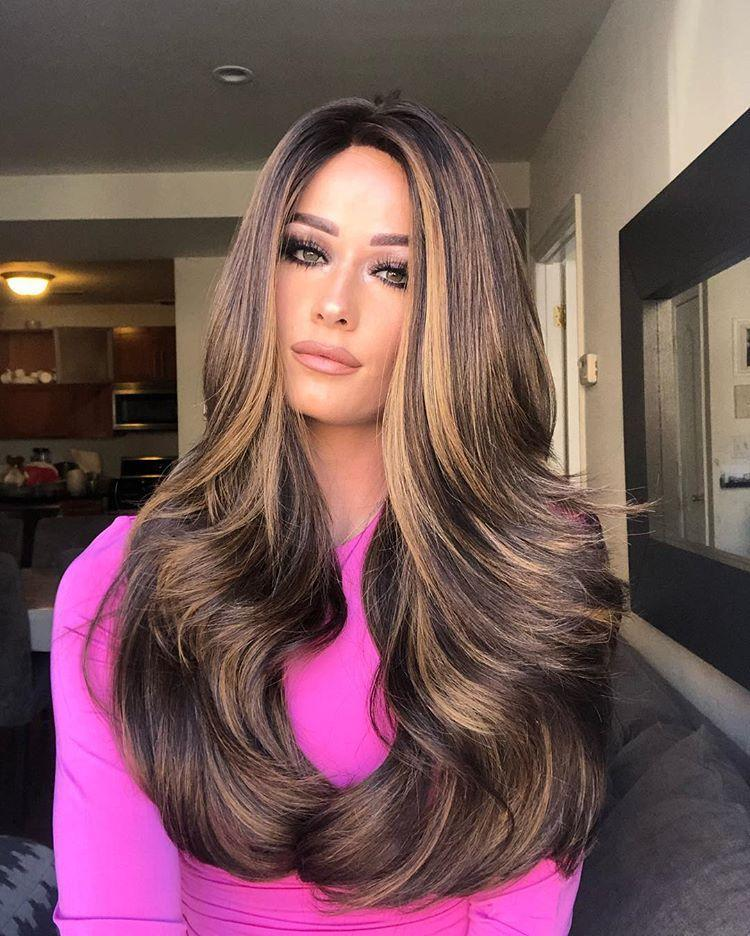 Hairsleisure Long Wave Brown Hot 360 Lace Wig 100% Virgin