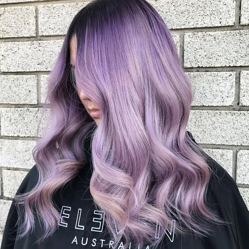 Hairsleisure Long Wave New Purple 360 Lace Wig Pre Plucked Lace Frontal Wig