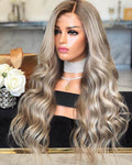 Hairsleisure Long Wave Brown-Gray 360 Lace Wig 100% Virgin