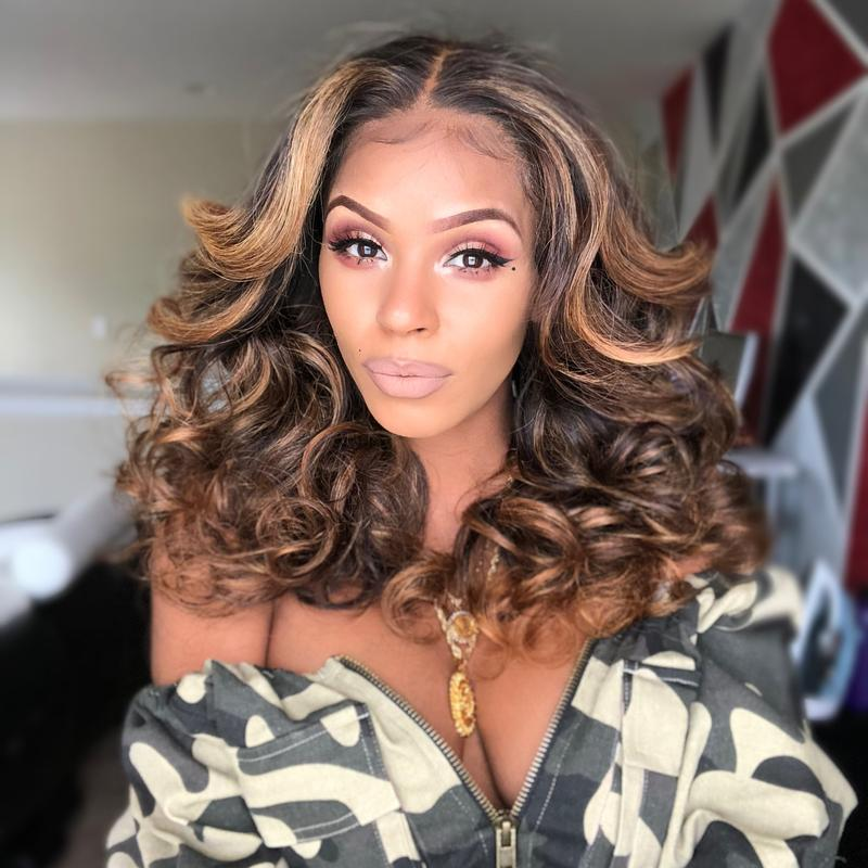 Long Wave 20' Sexy Ombre Brown Wig