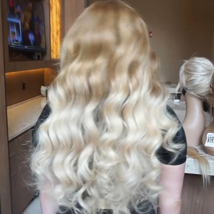 Hairsleisure Platinum Wig With Brown Roots 360 Lace Frontal Wigs