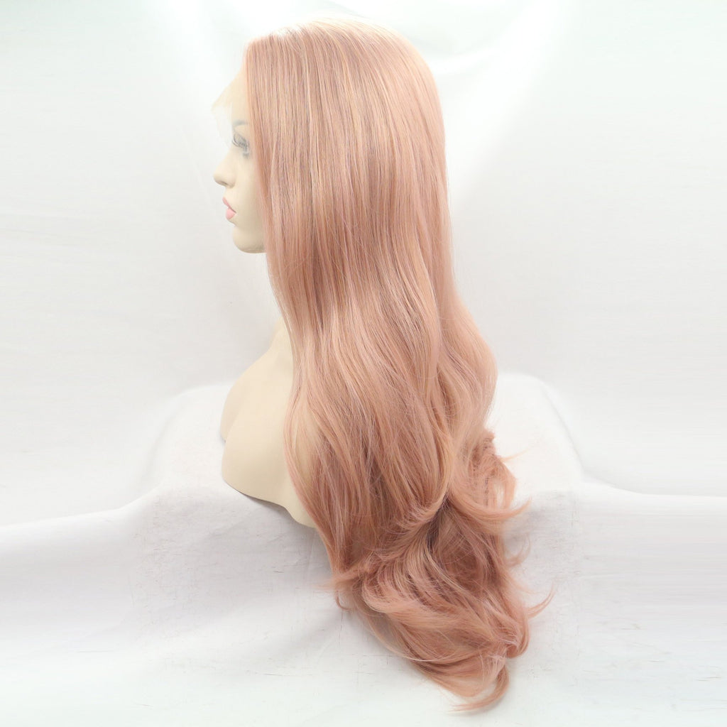Hairsleisure Fashion Pink Wave Wig Human Hair Lace