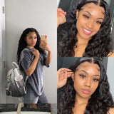 Hairsleisure Charcoal Black Water Wave Wair Hot Curly Wig | Natural Lace Wig | 360 Human Wig