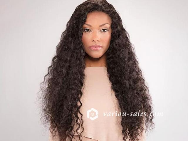 Hairsleisure Human Hair Natural Deep Curly Black/Brown Wig for Women