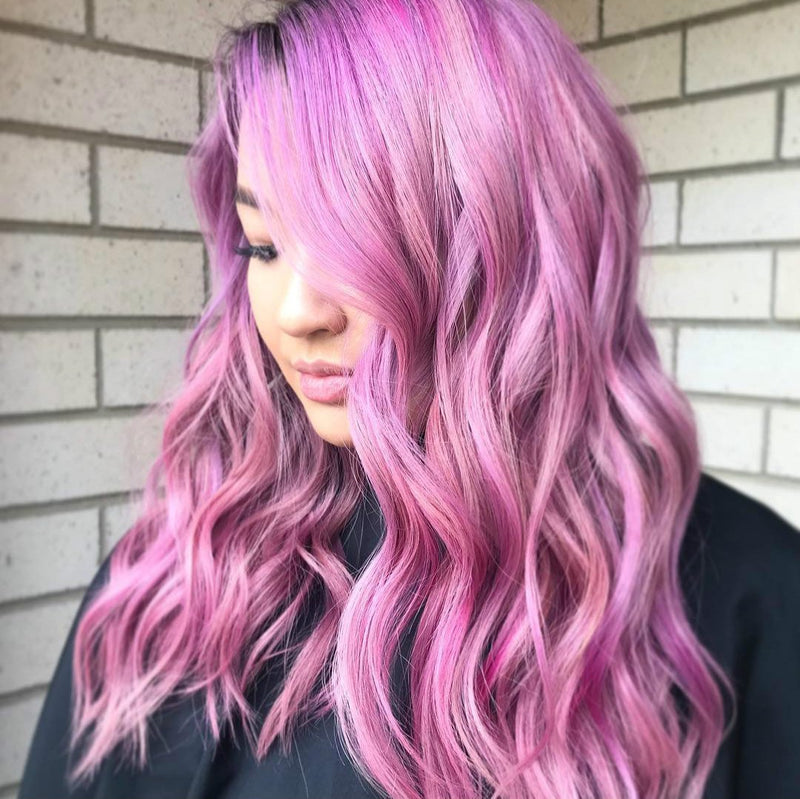 Hairsleisure Long Wave New Purple 360 Lace Wig 100% Virgin