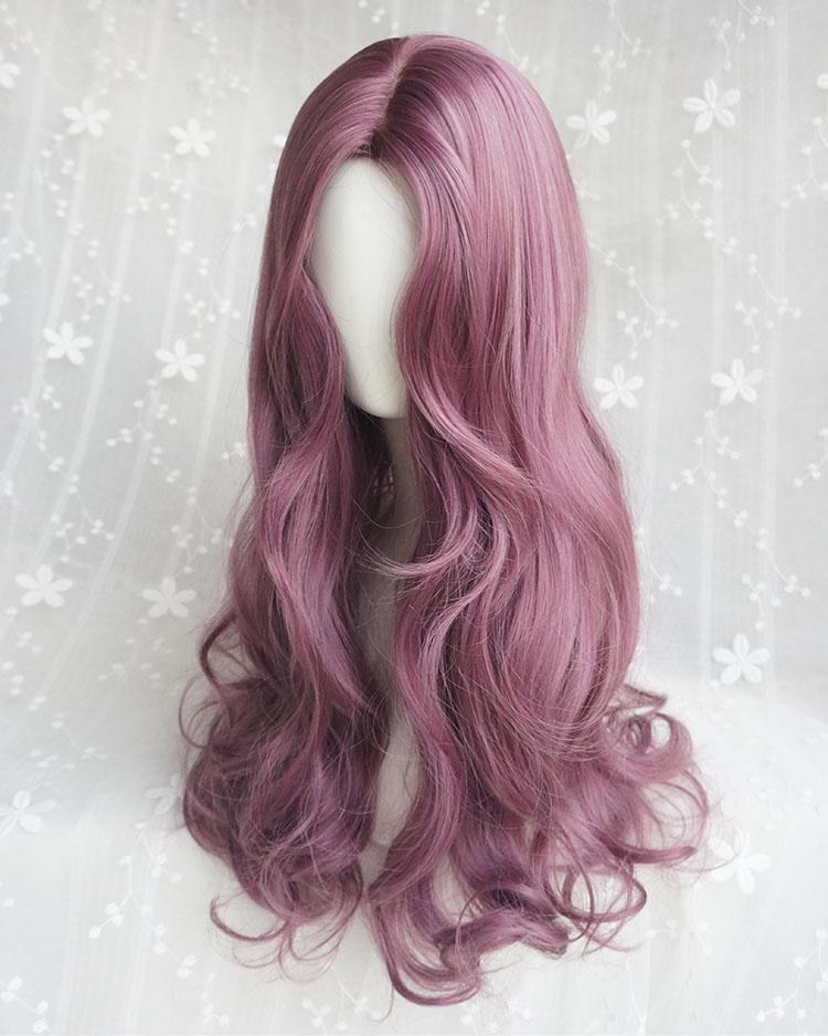 Long Wave Fashion Purple Wig
