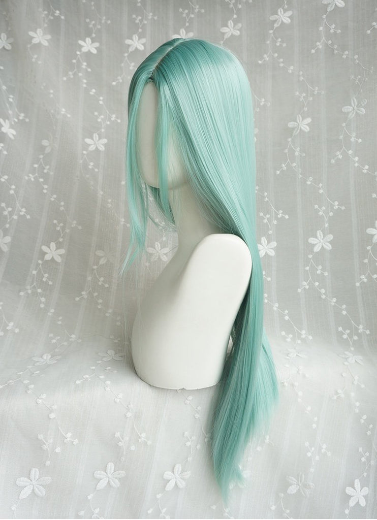 Hairsleisure Fashion Mint Green Wig Human Hair Lace