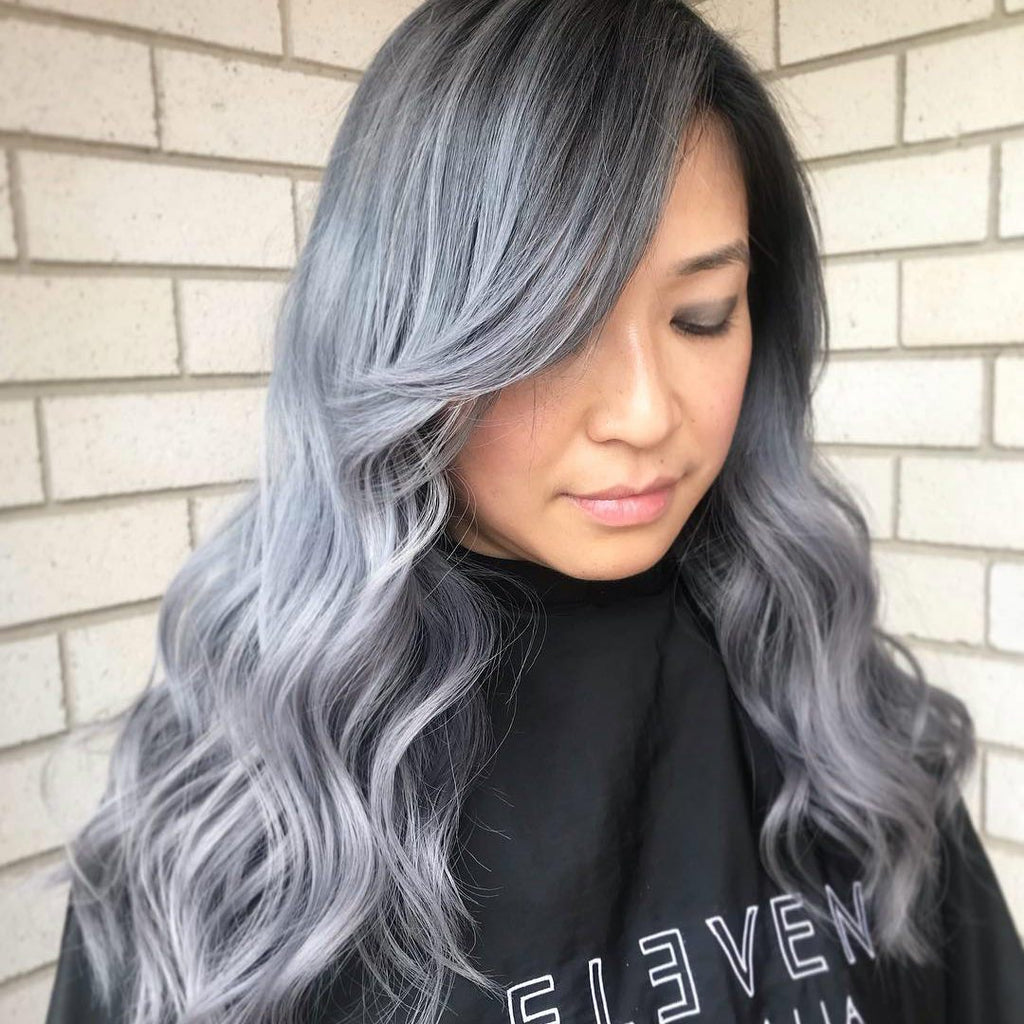 Long Wave New Gray Wig