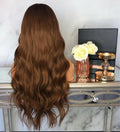 Hairsleisure Rosa 21 inches Long Wave Brown Wig Human Hair Lace