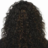 Hairsleisure Human Hair Long Curly Black Wig for Women
