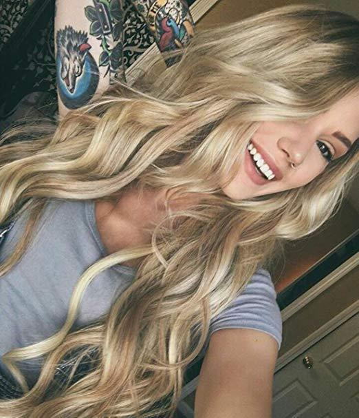Hairsleisure 2021 Long Wave Light Blonde Wig Human Hair Lace