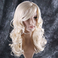 Stylish Long Curly Blonde Hair Wig