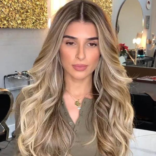 Hairsleisure 2020 New Long Wavy Fashion Brown Wig Human Hair