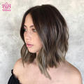 Hairsleisure Black Brown Gradient Human Hair 360 Lace Wig Amazing Bob Hair | Human Wig