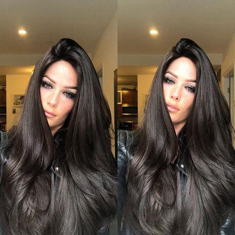 Hairsleisure 360 Lace Wig Frontal Hand-Tied Trendy Wave Wig Human Wig Black Wig