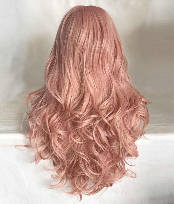 Long Wave Coral Doll Pink Wig