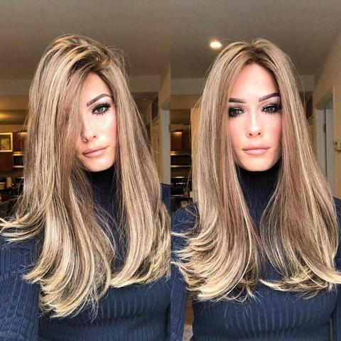 Hairsleisure Long Straight Medium Blond Wig 360 Lace Wig Frontal Hand-Tied Trendy Straight Wig | Human Wig