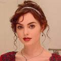 Hairsleisure Rose's Titanic Style Rose red Fashion Wig Human Hair