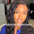 Hairsleisure 360 Lace Wig Pre Plucked Lace Frontal Wig Human Wig Black Wig