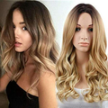 Hairsleisure Human Hair Black Gradient Gold Big Wavy Long Curly