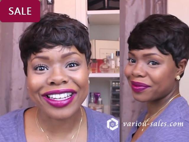 Hairsleisure Short and Sassy orgeous Short Wave African American | Human Black Wig