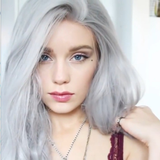 Long Wave Silver Wig