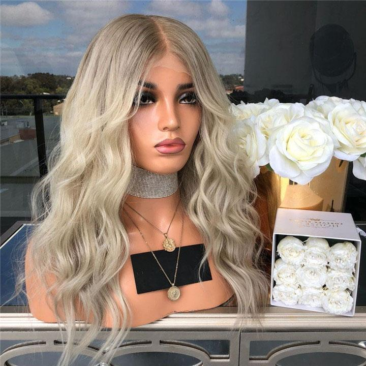 Hairsleisure Long Wave Platinum Wave Wig Human Hair Lace