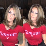 Hairsleisure Chic Brown Short Straight Wig Human Hair Lace