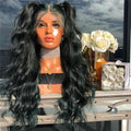Hairsleisure Bright Black Wavy Wig Best Seller 50% OFF Human Hair Lace