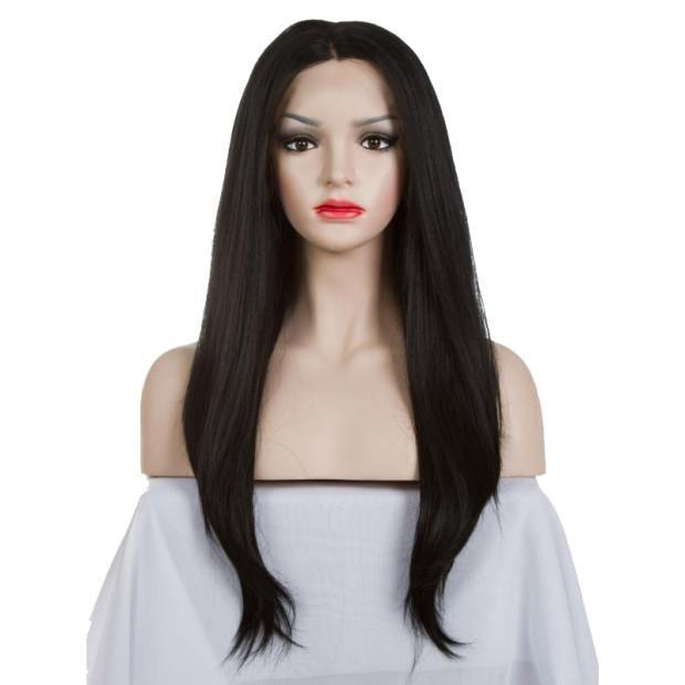 Hairsleisure Human Hair 360 Frontal Lace Black Long Straight Wig