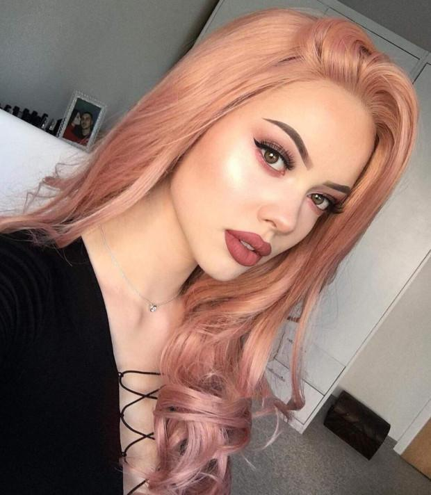 Hairsleisure 2021 Long Curly Pink Wig Human Hair Lace