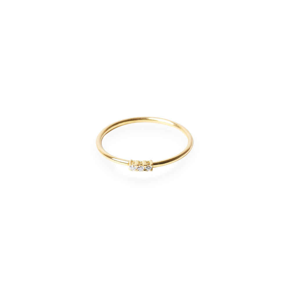ANILLO THREE DREAMS ORO AMARILLO 18K (STOCK 24/72h)