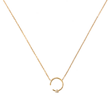Colgante LITTLE SHINY MOON oro rosa 18Kt