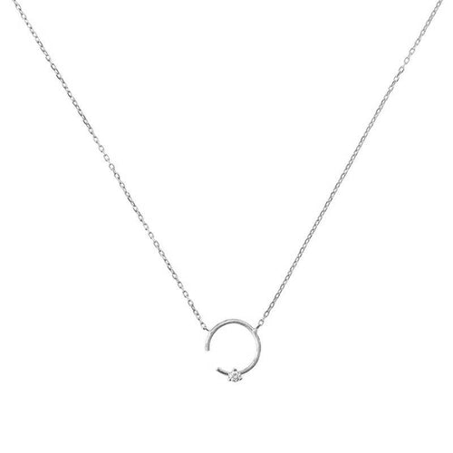 Colgante LITTLE SHINY MOON oro blanco 18Kt