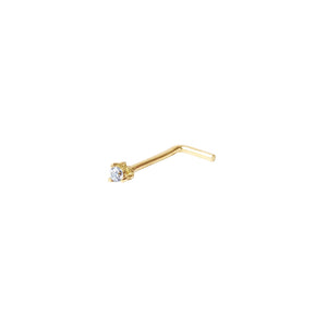 PENDIENTE PIERCING LITTLE BRIGHT DIAMANTE ORO AMARILLO 18K