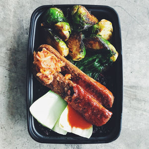 SPICY SAUSAGE + SPROUTS | REFUL.CO