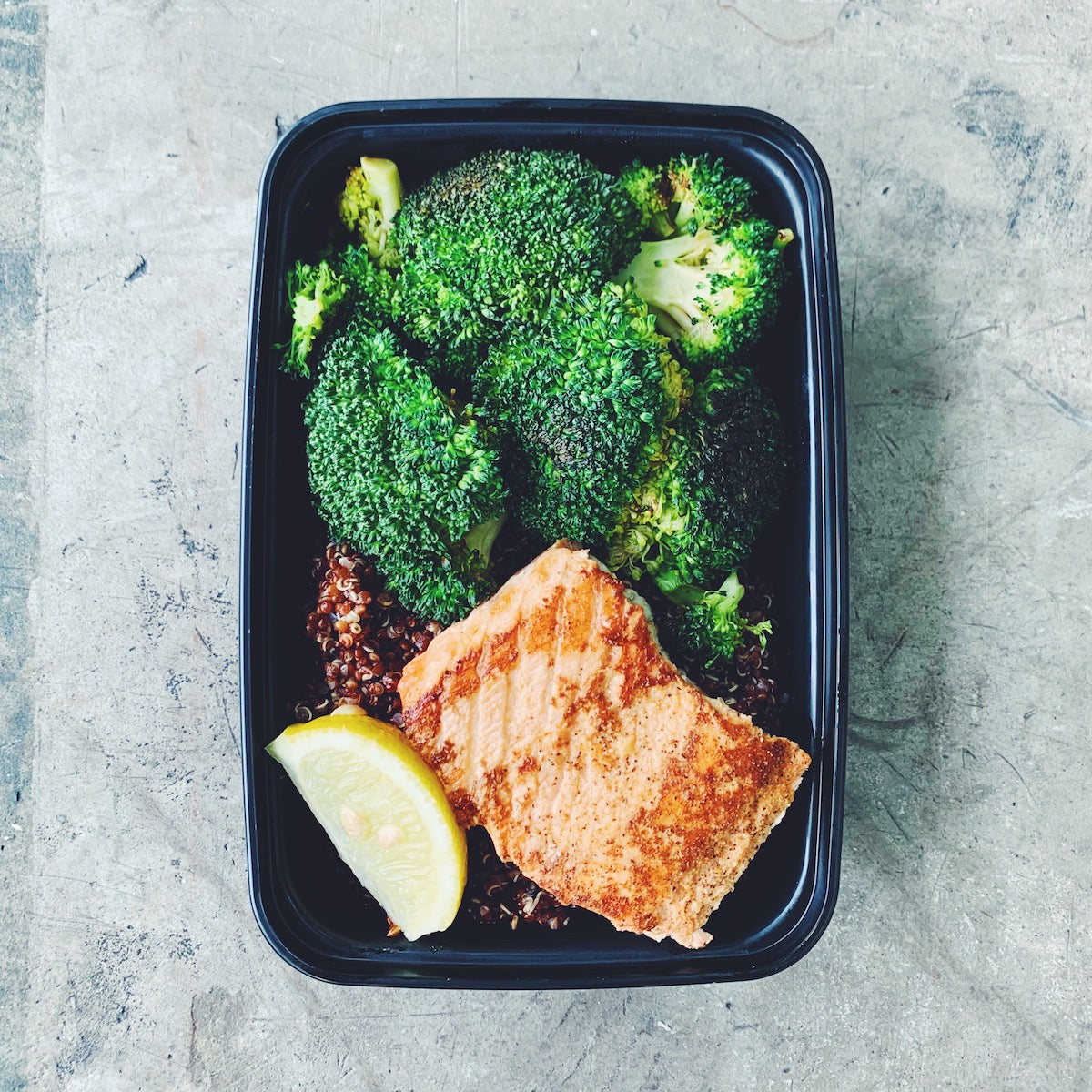 ROASTED SALMON + QUINOA