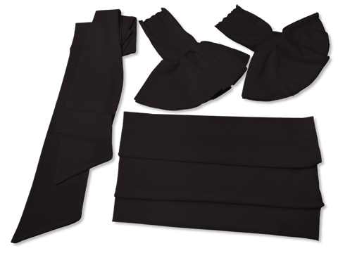 Our Versatile Cuffs & Sashes Set Basic Black