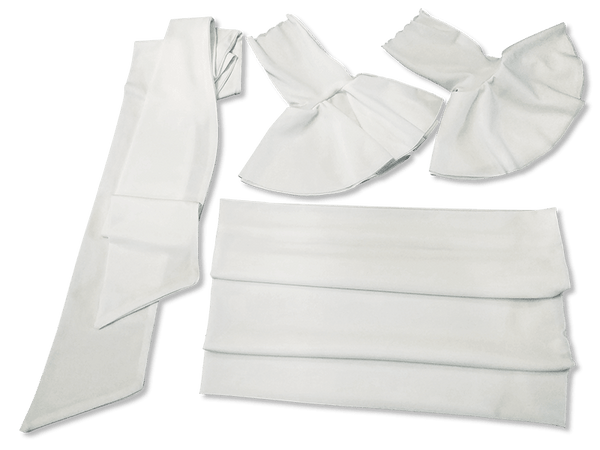 Our Versatile Cuffs & Sashes Set Pure White